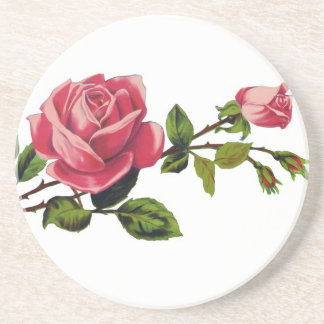 Red Rose Sandstone Coaster