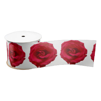 Red Rose Satin Ribbon