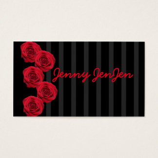 Red Rose She Neterprise Style Business Cards