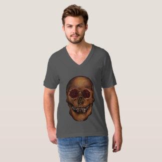Red Rose Skull Illustration Shirt