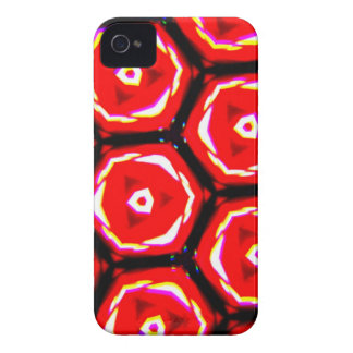 Red rose style honeycomb pattern iPhone 4 cases