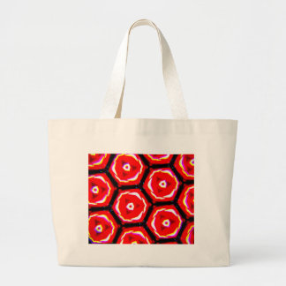Red rose style honeycomb pattern large tote bag