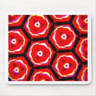Red rose style honeycomb pattern mouse pad