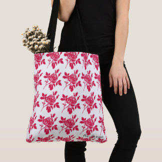 Red-Rose-Toile-Multi Choices Tote Bag