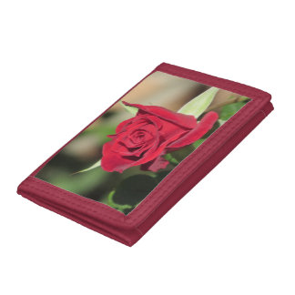Red Rose Trifold Wallet