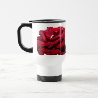 Red rose tumbler travel mug