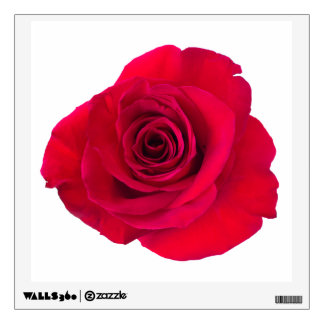 Red rose wall sticker