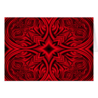 "Red ""rose"" warp design background greeting cards"