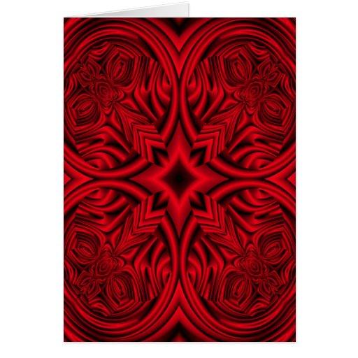 """Red """"rose"""" warp design background cards"""