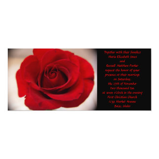Red Rose Wedding Card