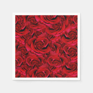 red rose wedding collage disposable napkins