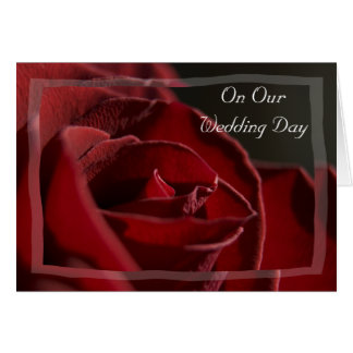 Red Rose Wedding Day Card