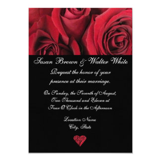 Red Rose Wedding Invitation