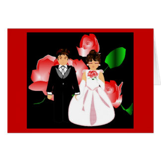 """""""Red Rose"""" Wedding Note Card"""