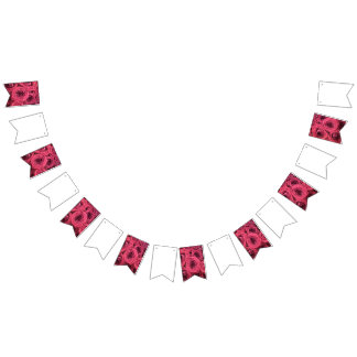 Red Rose Wedding/Party Bunting Bunting Flags