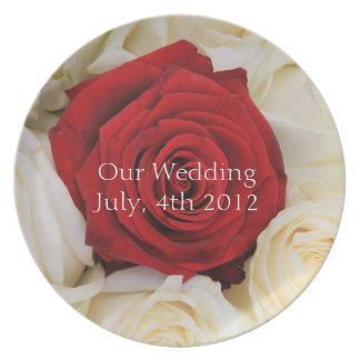 Red Rose wedding plate