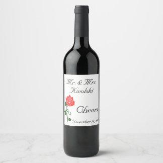 Red Rose Wine Label