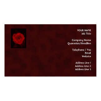 Red Rose. With Black and Deep Red. Business Card