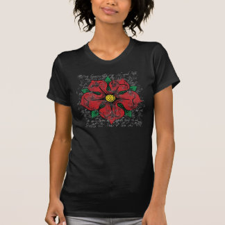 Red Rose Women's Dark Shirt