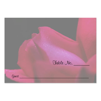 Red Rosebud Floral Wedding Table Place Cards Business Cards