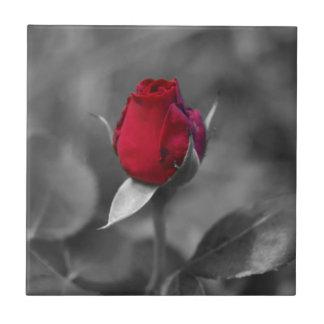 Red Rosebud tile