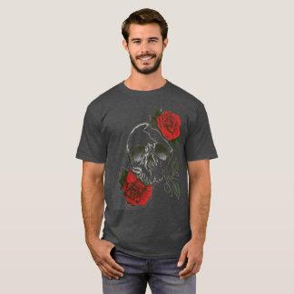 red rosed skull T-Shirt