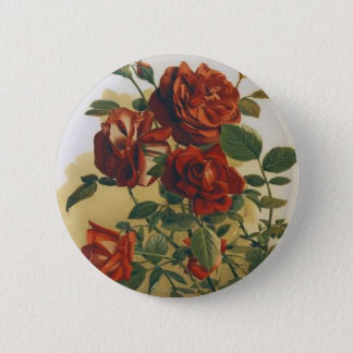 Red Roses 2 Inch Round Button