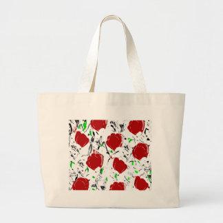 Red roses 2 large tote bag