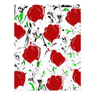 Red roses 2 letterhead design