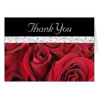 Red Roses and Hearts Thank You Card