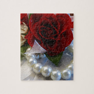 Red Roses and Pearls Jigsaw Puzzle