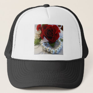 Red Roses and Pearls Trucker Hat