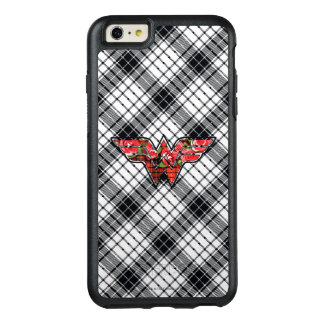Red Roses and Plaid Wonder Woman Logo OtterBox iPhone 6/6s Plus Case