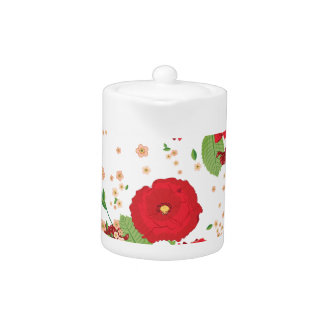 Red Roses and Poppies Ornament