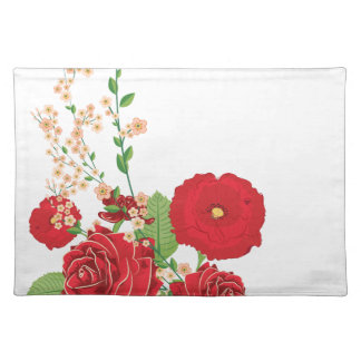 Red Roses and Poppies Ornament 2 Placemat