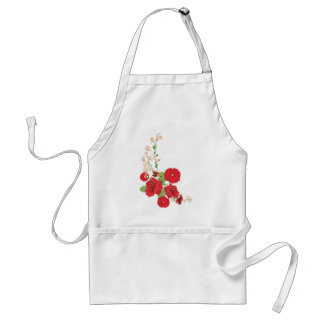 Red Roses and Poppies Ornament 2 Standard Apron