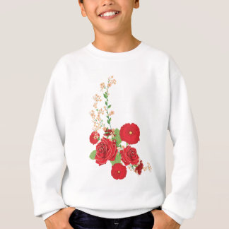 Red Roses and Poppies Ornament 2 Sweatshirt
