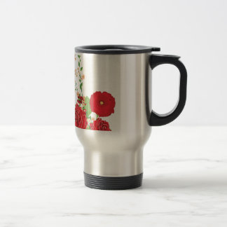 Red Roses and Poppies Ornament 2 Travel Mug