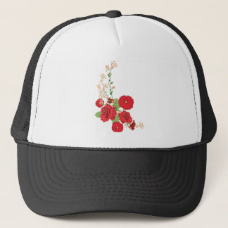 Red Roses and Poppies Ornament 2 Trucker Hat