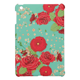 Red Roses and Poppies Ornament 3 iPad Mini Case