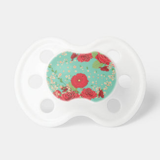 Red Roses and Poppies Ornament 3 Pacifier