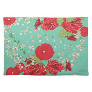 Red Roses and Poppies Ornament 3 Placemat