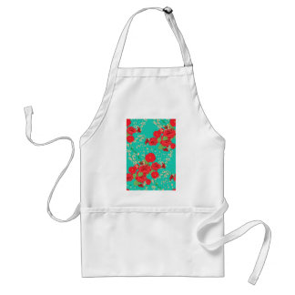 Red Roses and Poppies Ornament 3 Standard Apron
