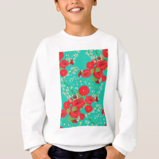 Red Roses and Poppies Ornament 3 Sweatshirt