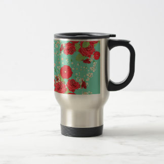Red Roses and Poppies Ornament 3 Travel Mug