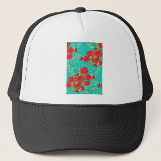 Red Roses and Poppies Ornament 3 Trucker Hat