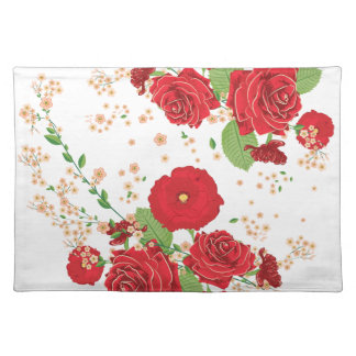 Red Roses and Poppies Ornament Placemat