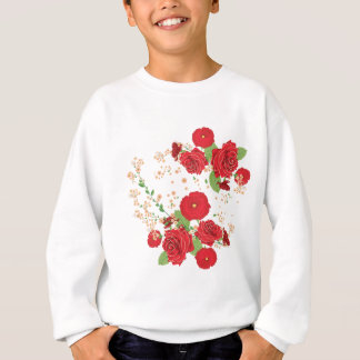 Red Roses and Poppies Ornament Sweatshirt