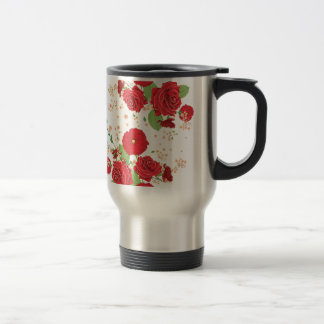 Red Roses and Poppies Ornament Travel Mug