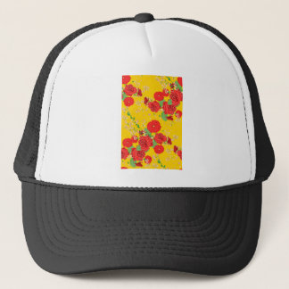 Red Roses and Poppies Ornament Trucker Hat